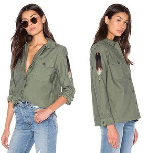 Levi's Embroidered Military Shirt Jacket Green L